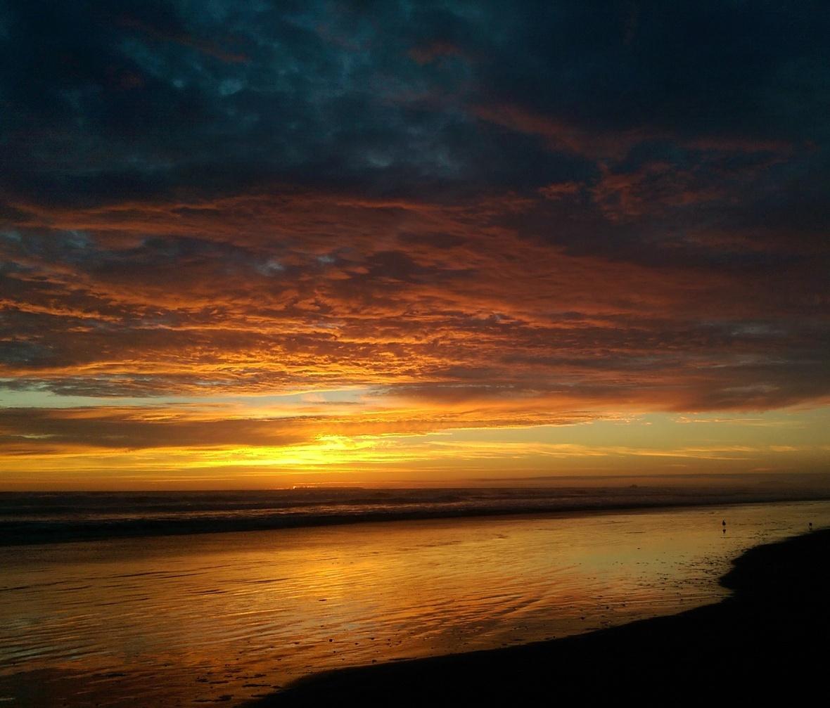 Sunset reflection 2 - better